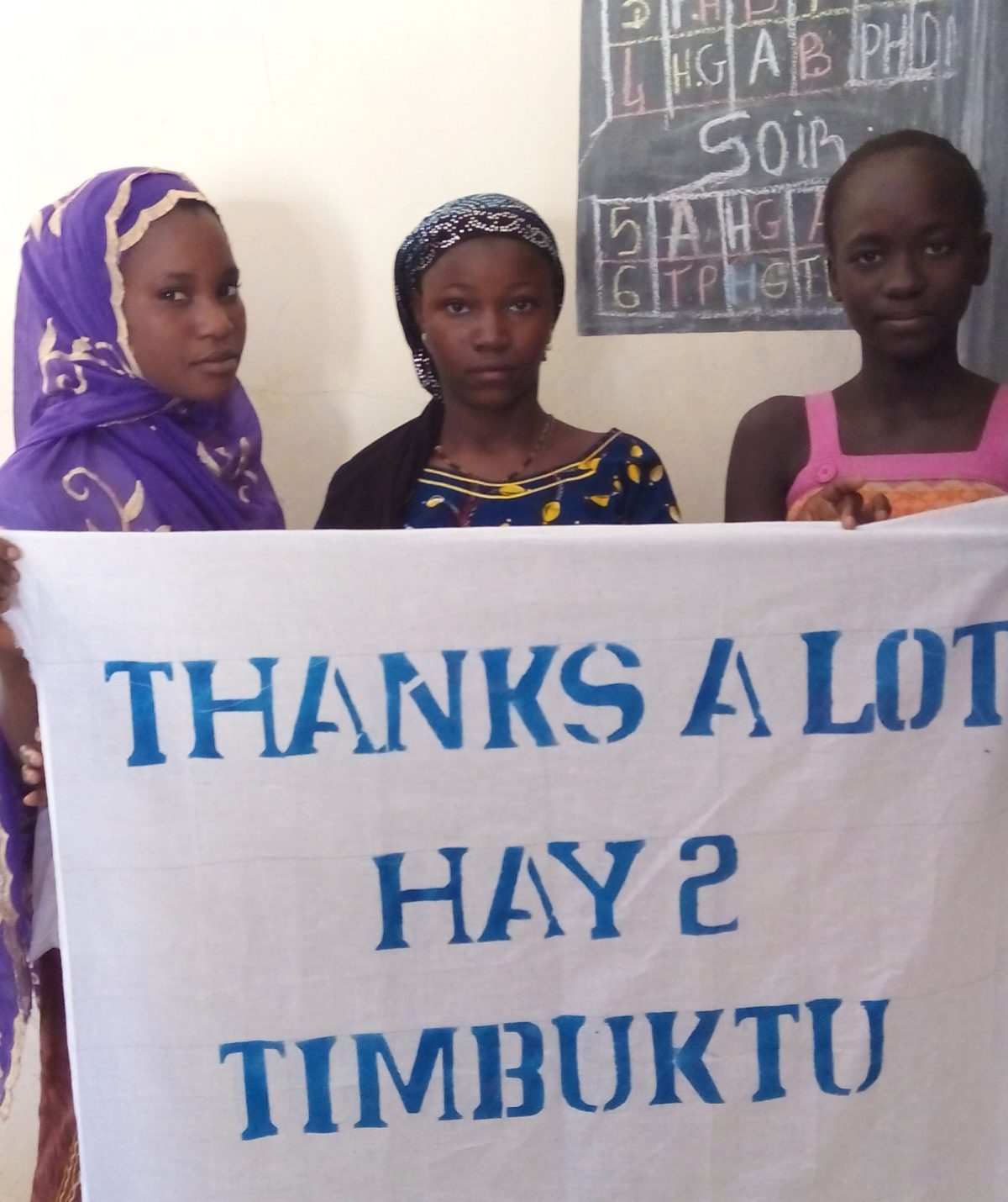 Female students thank H2T